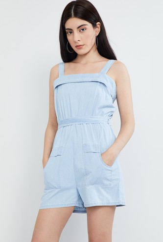 MAX Sleeveless Playsuit with Sash Tie-Up