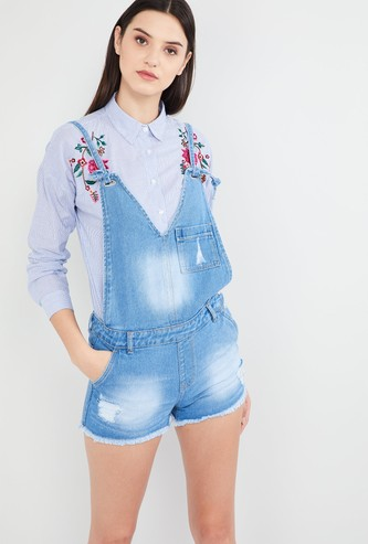 MAX Stonewashed Distressed Dungarees