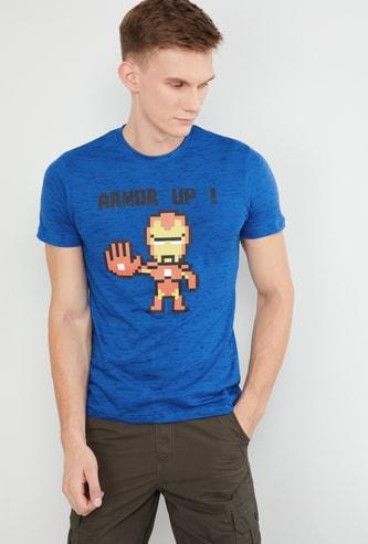 MAX Avengers Ironman Print Crew-Neck T-shirt