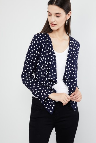 MAX Floral Print Full Sleeves Shrug