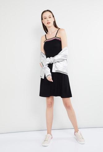 MAX Rib Knitted Skater Dress