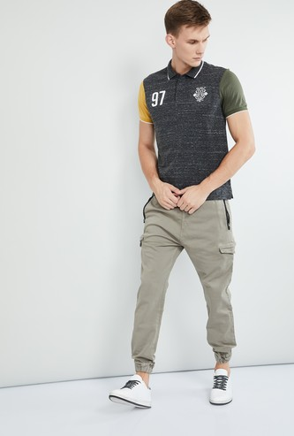 MAX Textured Short Sleeves Slim Fit Polo T-shirt
