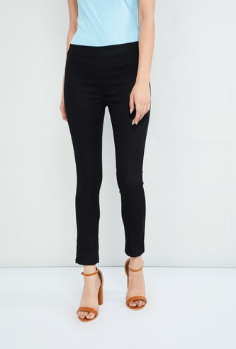 MAX Solid Cropped Treggings