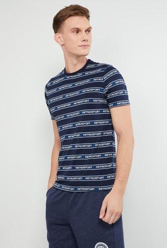 MAX Typographic Print Short Sleeves Slim Fit T-shirt