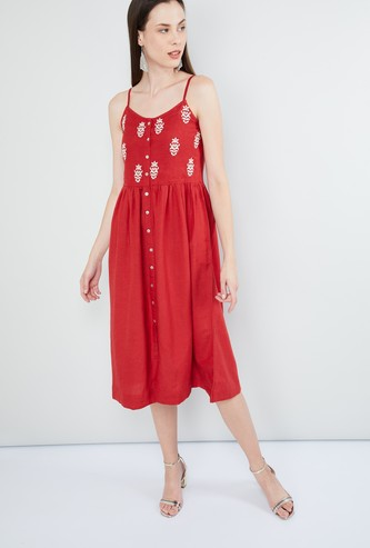 MAX Embroidered Dress With Straps