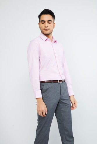MAX Solid Slim Fit Full Sleeves Shirt