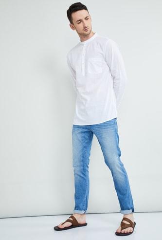 MAX Solid Full Sleeves Regular Fit Short Kurta