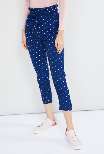 MAX Polka Dot Print Pants