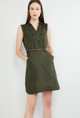 MAX Solid Sleeveless Dress