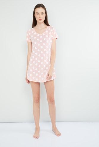 MAX Printed Cap Sleeves Dress