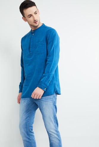 MAX Solid Regular Fit Short Kurta with Patch Pocket