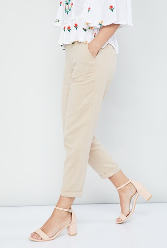 MAX Solid Cropped Pants