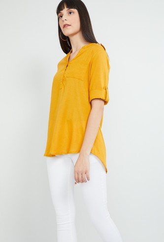 MAX Solid High-Low Tunic