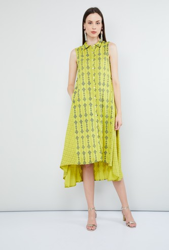MAX Fish Print Sleeveless Dress