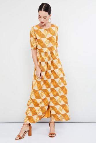 MAX Geometric Print Maxi Dress