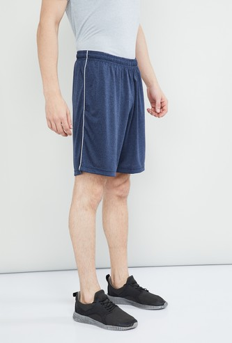 MAX Melange Tape Detail Knitted Shorts