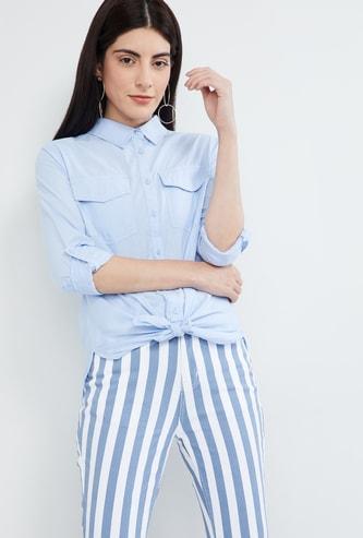 MAX Solid Flap Pocket Shirt