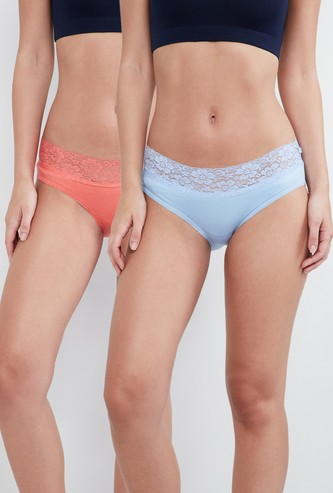 MAX Lace-Detaield Hipser Panties- Set of 2 Pcs.