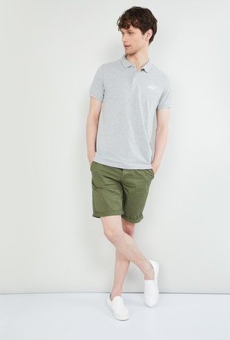 MAX Heathered Polo T-shirt
