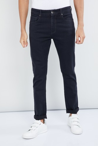 MAX Solid Low Rise Slim Fit Jeans