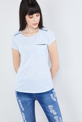 MAX Slub Top with Patch Pocket