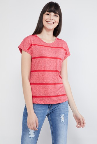 MAX Striped Top with Tie-Up Detail