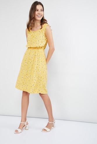 MAX Printed Blouson Dress