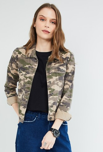 MAX Camouflage Print Full Sleeves Jacket