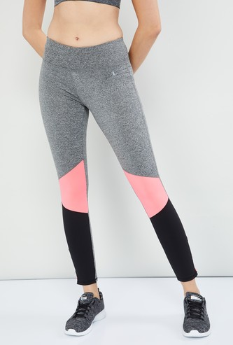 MAX Heathered Colourblock Cropped Tights