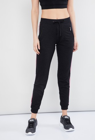 MAX Cropped Joggers with Contrast Taping