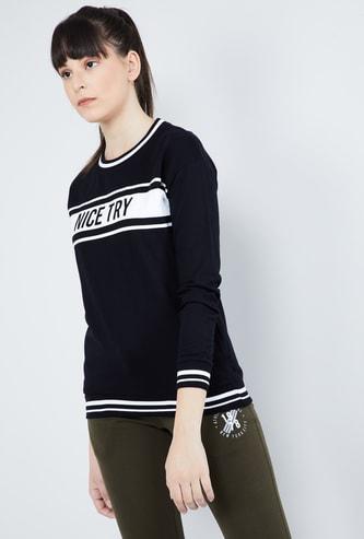 MAX Textured Long Sleeves Sweatshirt