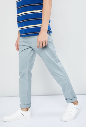MAX Solid Slim Fit Chinos