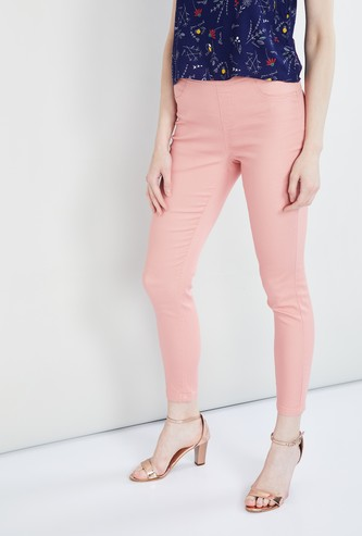 MAX Solid Skinny Cropped Pants