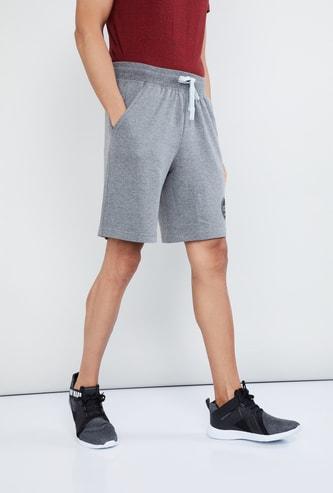 MAX Printed Patch Drawstring Waist Training Shorts