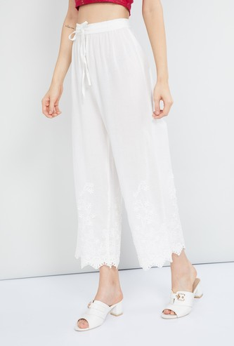 MAX Solid Cropped Parallel Pants