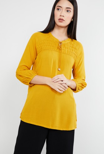 MAX Textured Three-quarter Sleeves Tunic