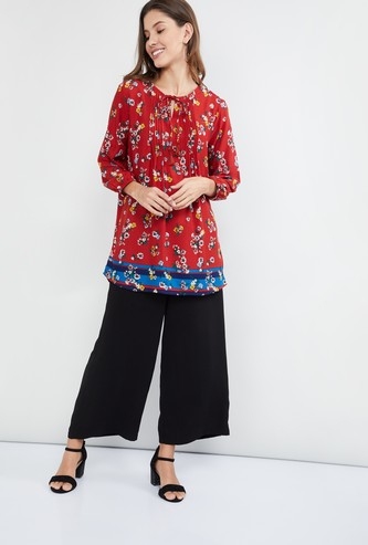 MAX Printed Tunic with Pleats