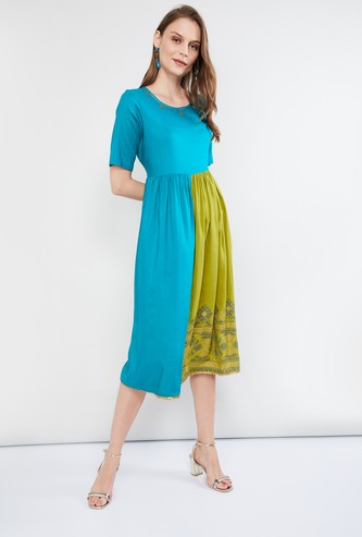MAX Colourblocked A-line Dress