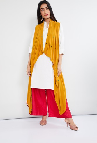 MAX Embroidered Longline Shrug