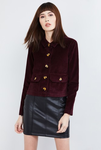 MAX Textured Full Sleeves Jacket