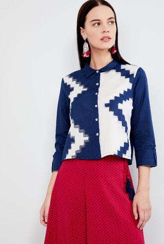MAX Printed Shirt Style Top