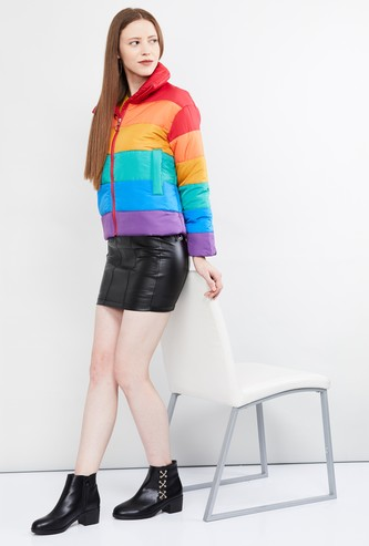 MAX Colourblocked Puffer Jacket