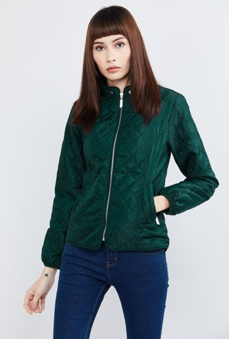 MAX Solid Full Sleeves Quilted Jacket