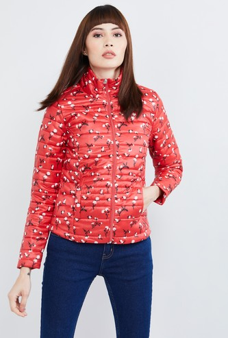 MAX Floral Print Padded Jacket