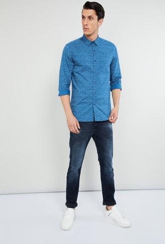 MAX Printed Full Sleeves Slim Fit Shirt