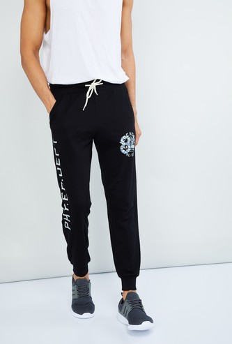MAX Typographic Print Casual Joggers