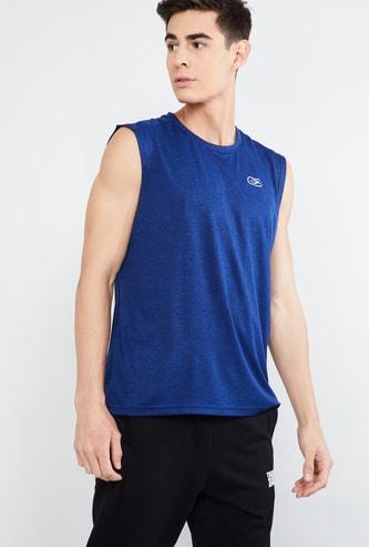 MAX Solid Regular Fit Sleeveless T-shirt