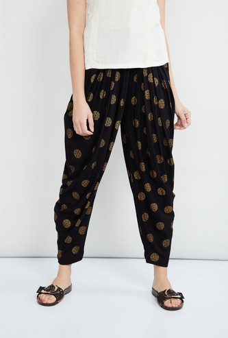 MAX Printed Pleated Pants