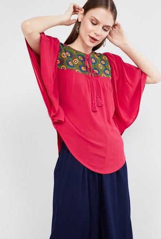 MAX Embroidered Kaftan Sleeves Top