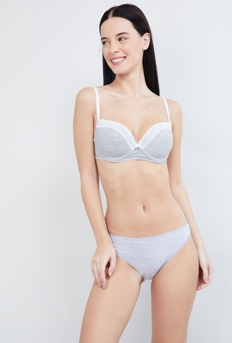 MAX Heathered Padded Bra with Lace